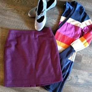 """J.Crew """"The Pencil Skirt"""" wool blend 8p lined"""